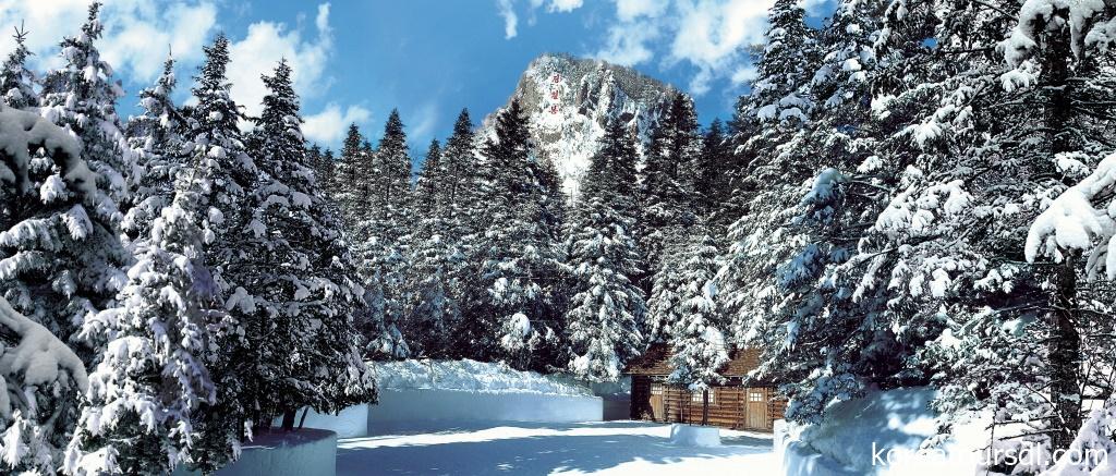 雪の白頭山