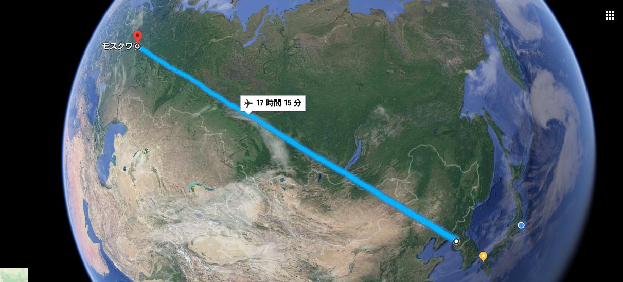 平壌からモスクワ