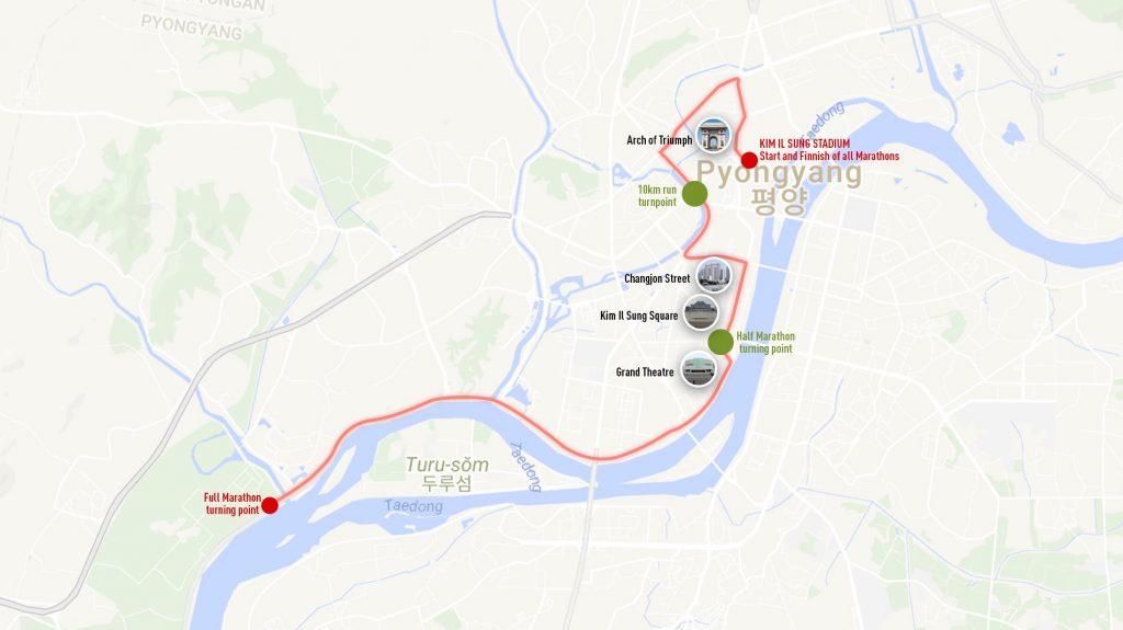平壌マラソン2018コース