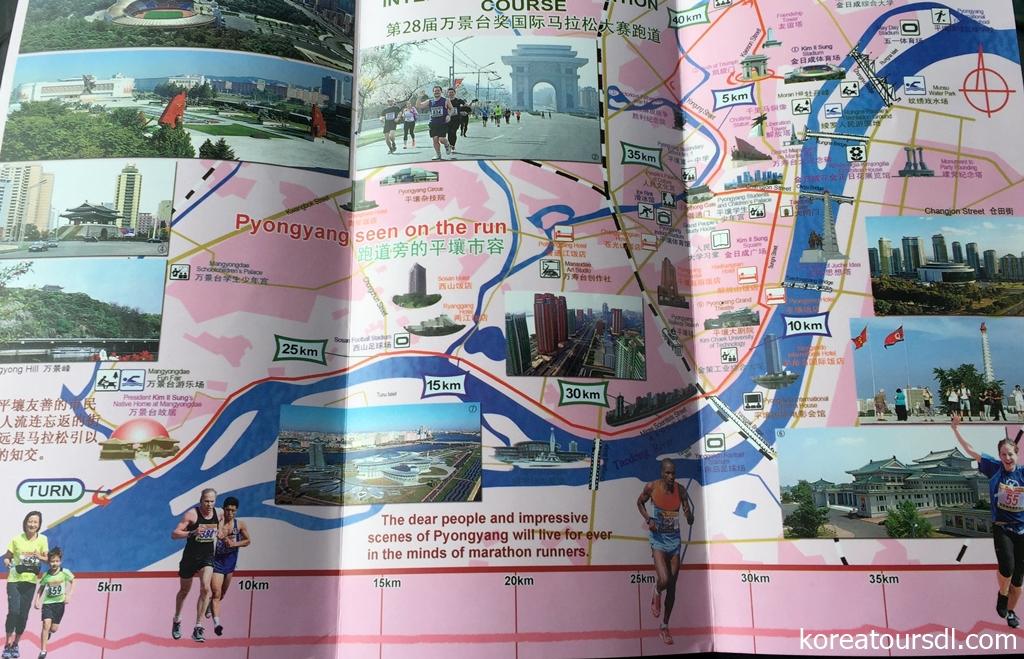 北朝鮮・平壌マラソンコース