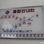 平壌地下鉄の光る路線図