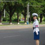 平壌の美人交通整理人